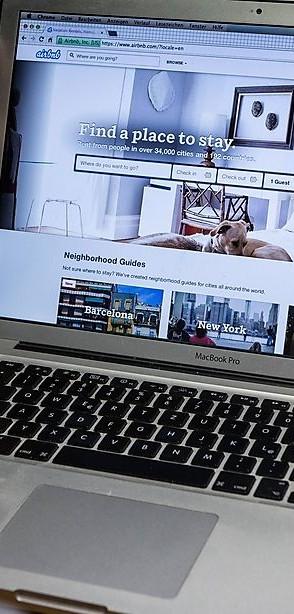 Airbnb Buchung einer Privaten Unterkunft über die Internet Seite des Community Marktplatz Airbnb